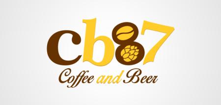 logotipo cafeteria cb87 de porto alegre